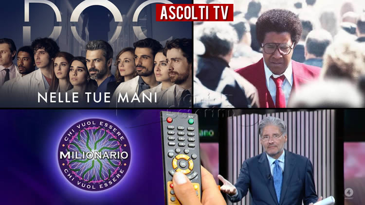 Ascolti TV giovedì 15 ottobre 2020
