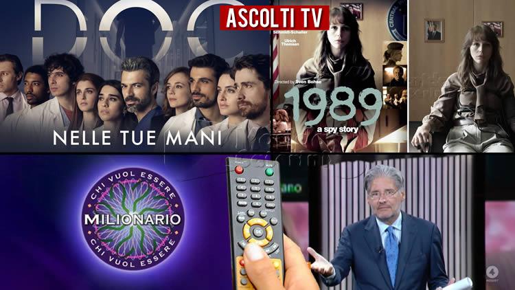 Ascolti TV giovedì 29 ottobre 2020