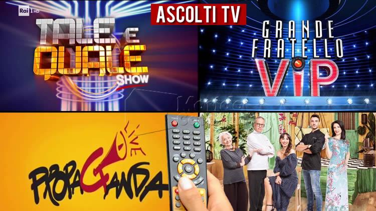 Ascolti TV venerdì 30 ottobre 2020