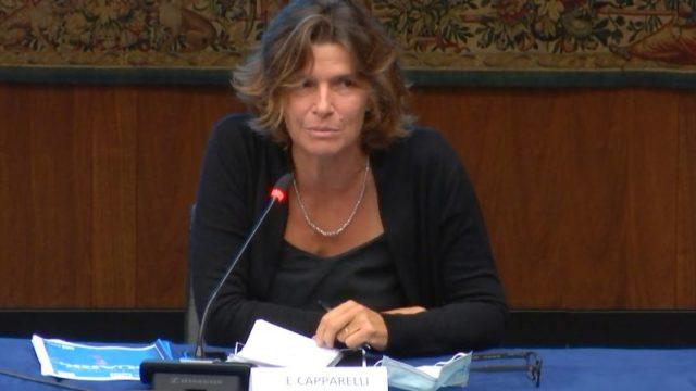 La direttrice Elena Capparelli in conferenza stampa