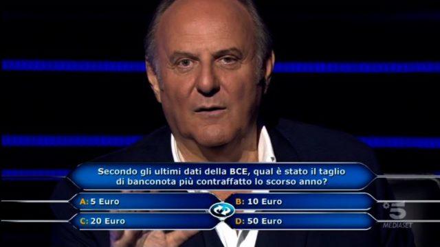 Chi vuol essere milionario 1 ottobre, diretta - Gerry Scotti invita Motta a riflettere
