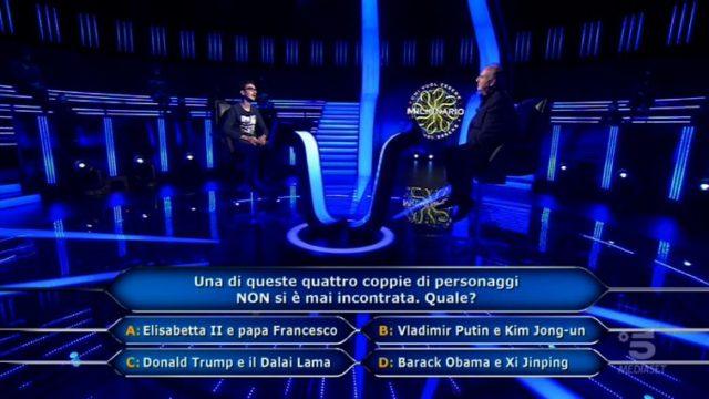 Chi vuol essere milionario 15 ottobre, diretta, Chris Joseph Caraccioli fissa il traguardo a 15mila euro