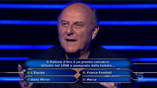 Chi vuol essere milionario 15 ottorbe, diretta - Gerry Scotti rlegge la terza domanda a Chris Joseph