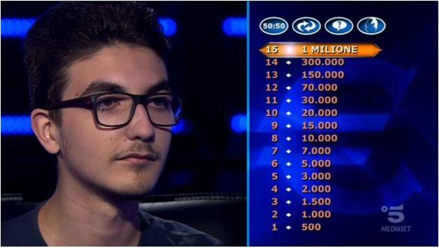 Chi vuol essere milionario 22 ottobre, diretta, domande, concorrenti