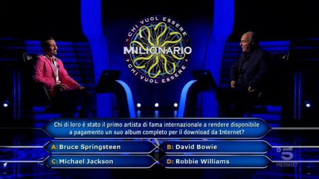 Chi vuol essere milioanrio 29 ottobre, diretta, Decima domanda Valerio Liprandi