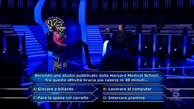 Chi vuol essere milionario 29 ottobre, diretta, la settima domanda di Valerio Liprandi