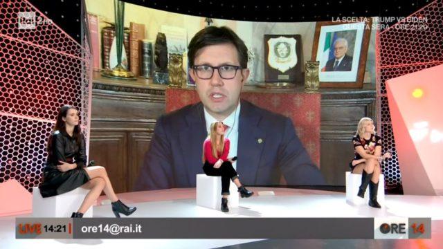 Ore 14 puntata 26 ottobre, il Sindaco di Firenze Dario Nardella