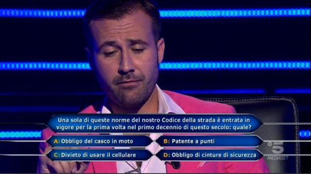 La nona domanda del concorrente Valerio Liprandi