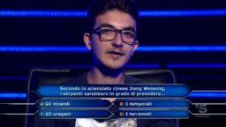 Chi vuol essere milionario 15 ottobre, concorrente Chris Caraccioli