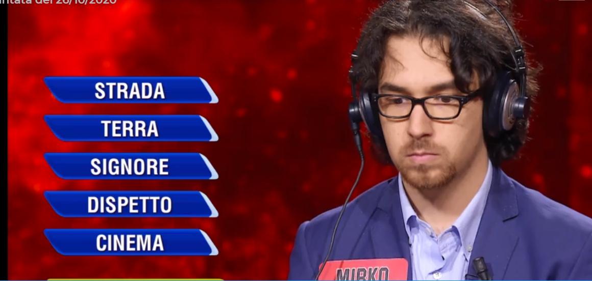 L'Eredità la ghigliottina del campione Mirko