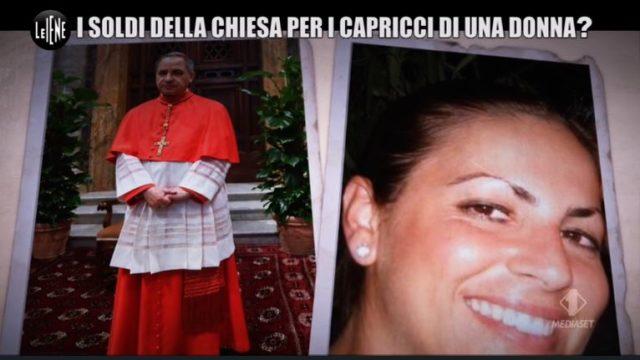 Il Cardinale Angelo Becciu e Cecilia Marogna