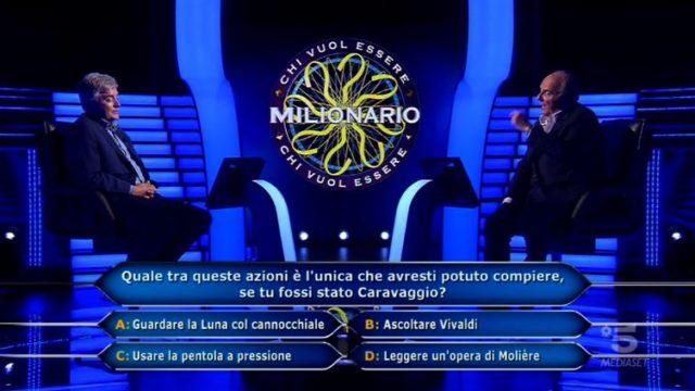 Chi vuol essere milionario 1 ottobre, diretta - Andrea Peruzzi quinta domanda