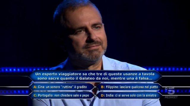 Chi vuol essere milinario 29 ottobre, diretta, Riccardo amico ingegnere di Valerio Liprandi