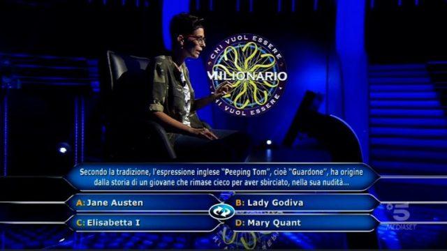 Chi vuol essere milionario 8 ottobre diretta - Undicesima domanda Sara Ricciardo