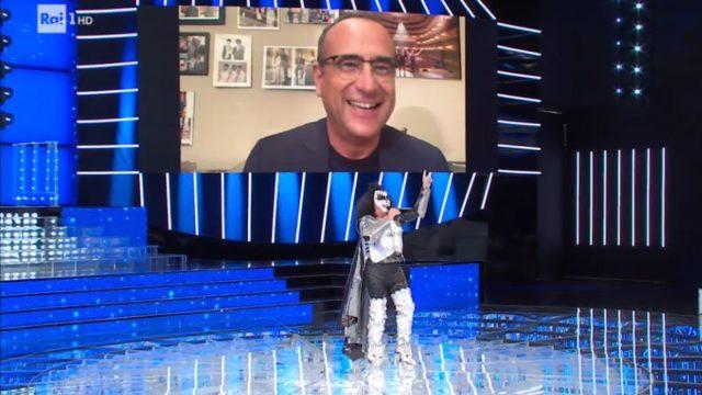 Tale e Quale Show diretta 30 ottobre, Gabriele Cirilli imita Gene Simmons