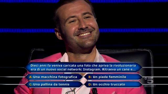 Chi vuol essere milionario 29 ottobre, la tredicesima domanda di Valerio Liprandi