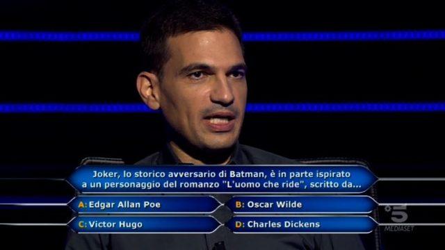 Chi vuol essere milionario 22 ottobre, diretta, undicesima domanda Damiano Aresu