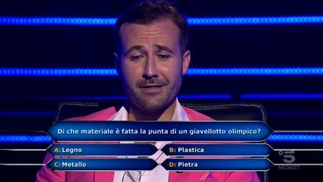 Chi vuol essere nilionario 29 ottobre - Seconda domanda Valerio Liprandi