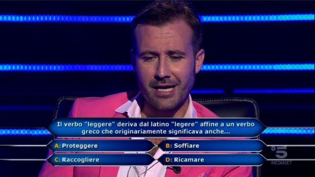 Chi vuol essere milionario 29 ottobre, diretta, Sesta domanda Valerio Liprandi