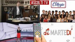 Ascolti TV martedì 24 novembre 2020