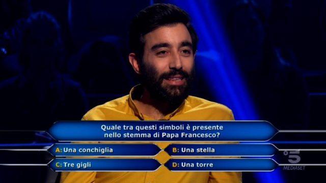 Chi vuol essere milionario 5 novembre, nona domanda Sandro Iannacone