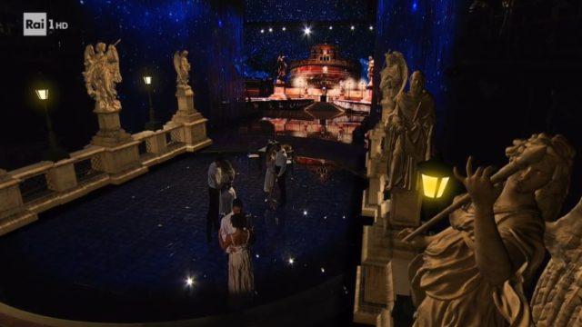 Omaggio a Gigi Proietti - La scenografia con Castel Sant'Angelo