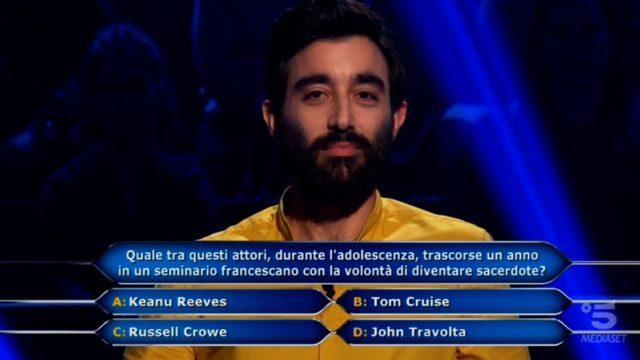 Chi vuol essere milionario 5 novembre 2020, diretta, Settima domanda Sandro Iannacone