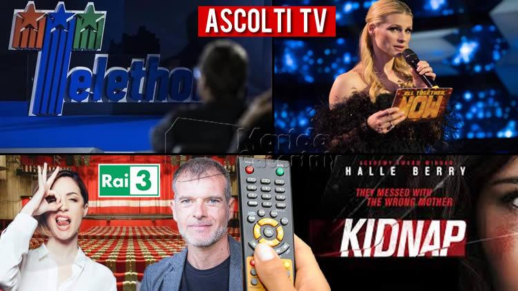 Ascolti TV sabato 12 dicembre 2020