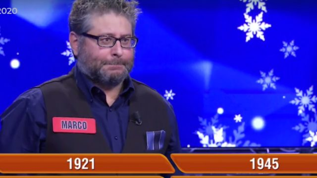 Marco Rigon concorrente L'Eredità