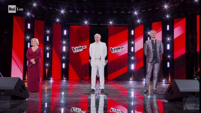 The voice senior 20 dicembre podio