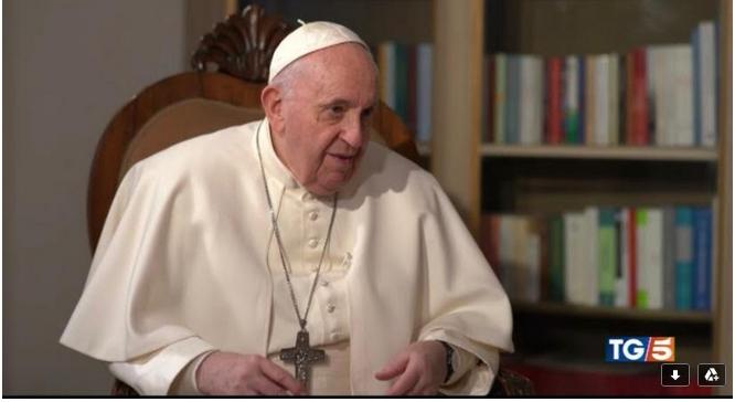 Intervista Papa Francesco Canale 5