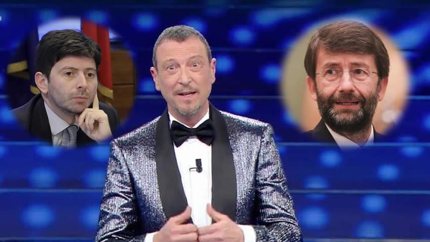 Sanremo 2021 Amadeus Speranza Franceschini