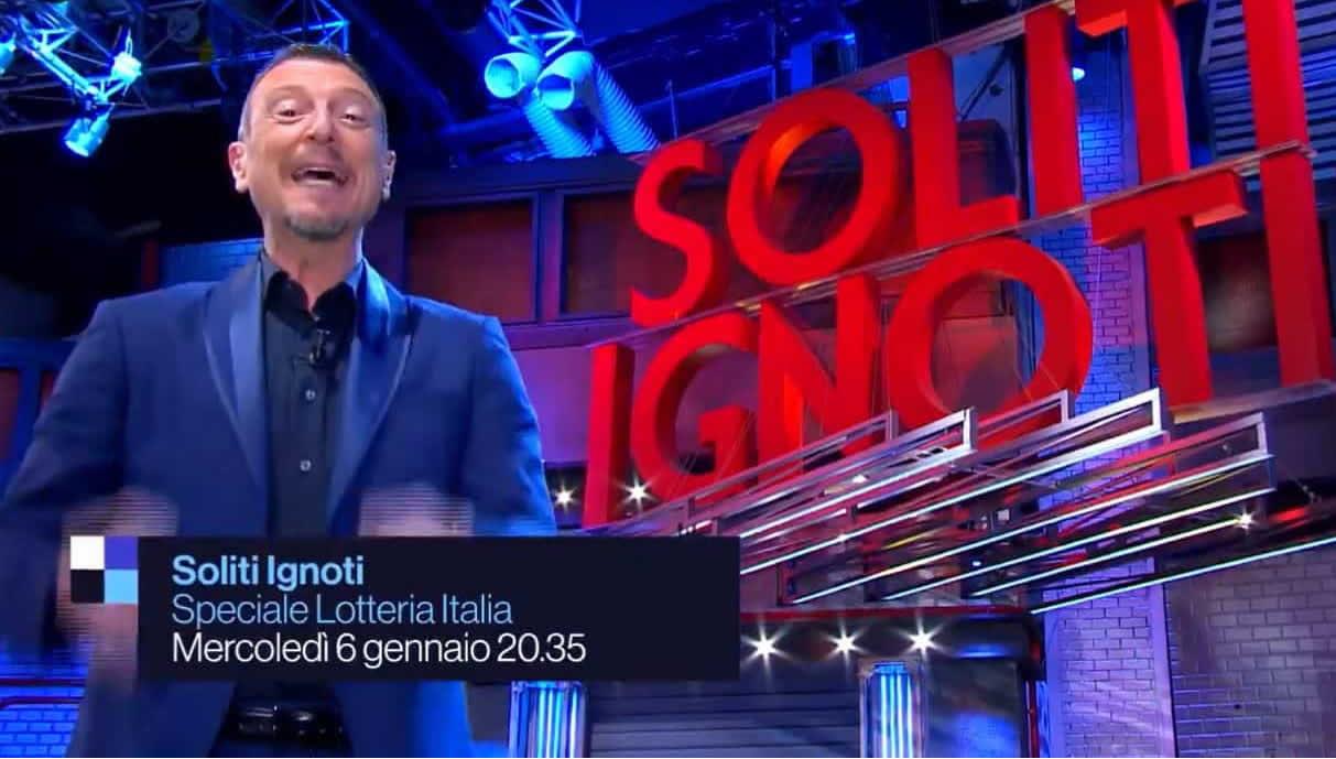 Soliti ignoti Lotteria Italia 2021