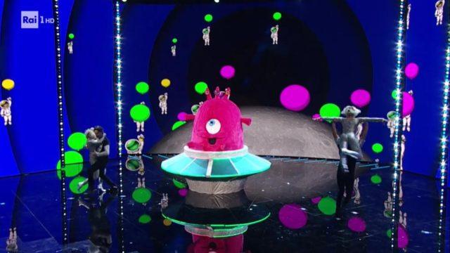 il cantante mascherato 29 gennaio baby alieno