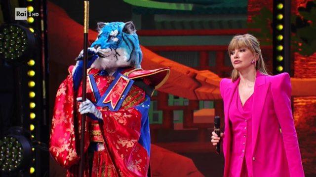 Il cantante mascherato 5 febbraio tigre azzurra