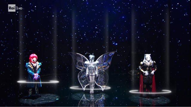il cantante mascherato 26 febbraio trio