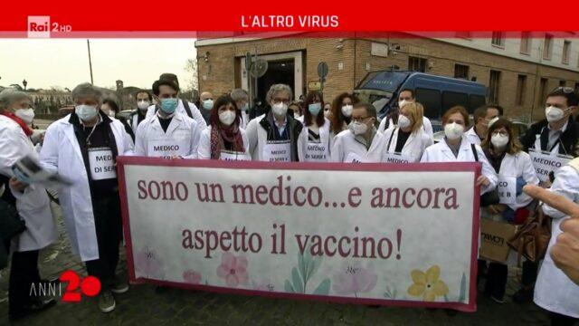 Anni 20 diretta 11 marzo medici vaccino