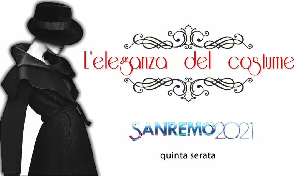 Sanremo 2021 look quinta serata