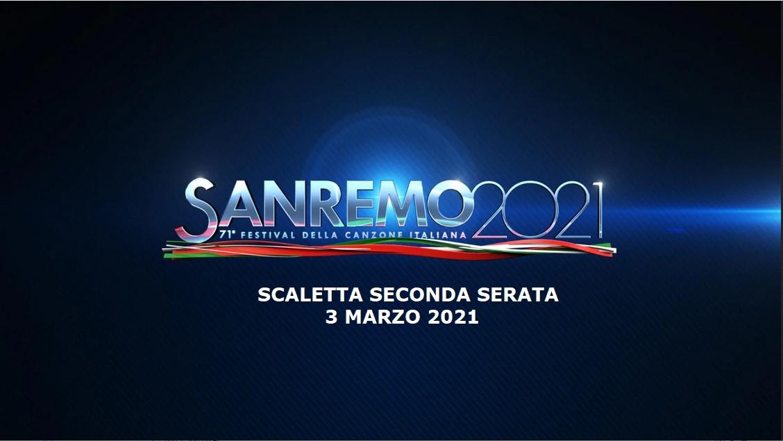 Sanremo 2021 scaletta 3 marzo Rai 1
