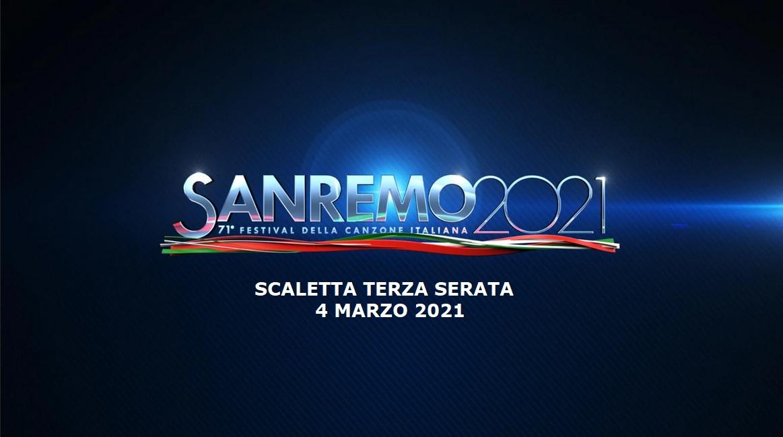Sanremo 2021 scaletta 4 marzo Rai 1