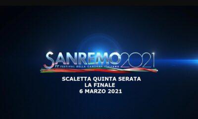 Sanremo 2021 scaletta serata finale 6 marzo Rai 1