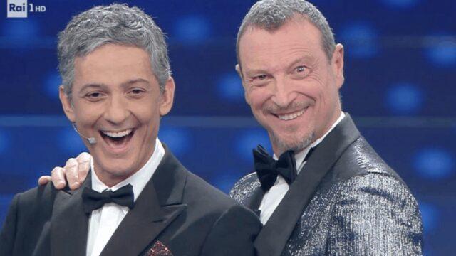 Sanremo Ama ter Fiorello Amadeus