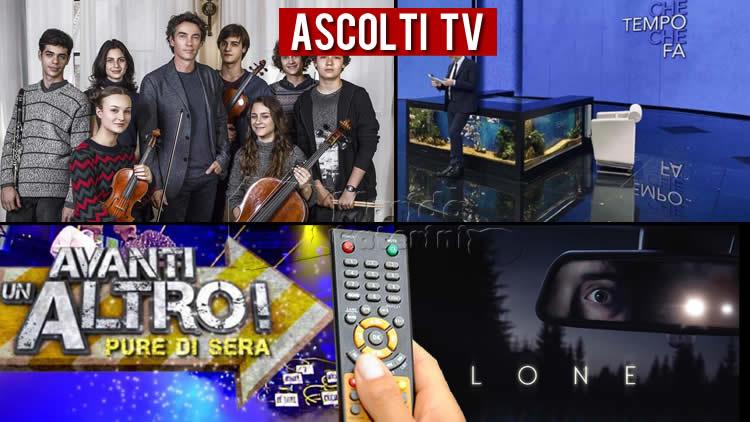 Ascolti TV domenica 25 aprile 2021