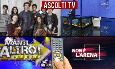 Ascolti TV domenica 16 maggio 2021