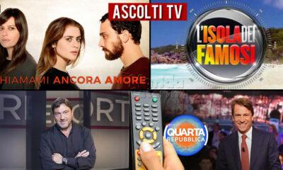 Ascolti TV lunedì 10 maggio 2021
