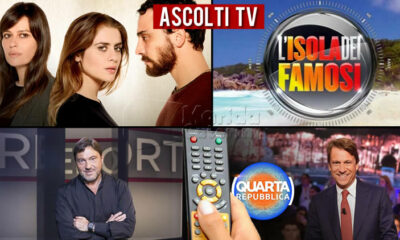 Ascolti TV lunedì 3 maggio 2021