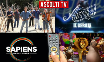 Ascolti TV sabato 15 maggio 2021