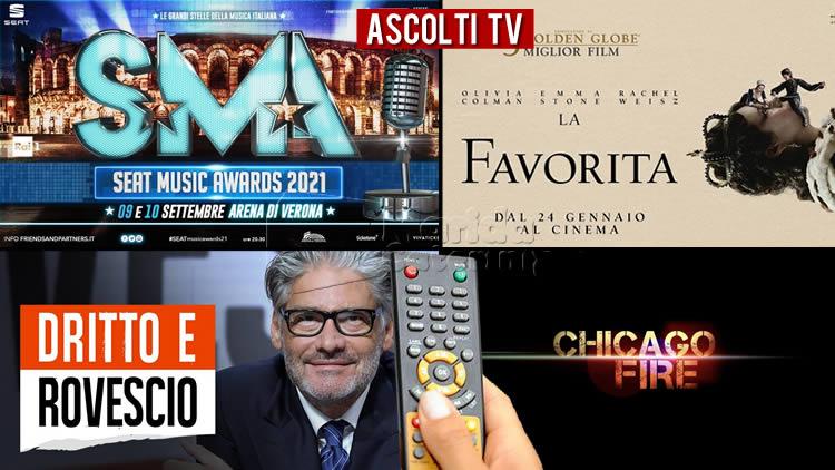 Ascolti TV giovedì 9 settembre 2021