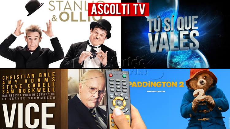 Ascolti TV sabato 9 ottobre 2021