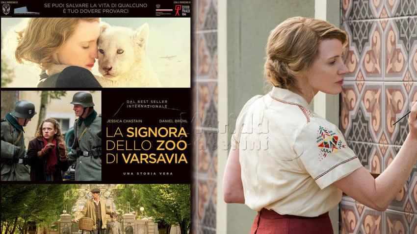 La signora dello zoo di Varsavia film Canale 5